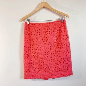 J. Crew The Pencil Skirt in Floral Eyelet A2870